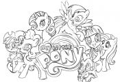Free coloring pages of my little pony princess luna