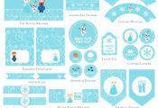 Frozen Birthday Printable Mini Set, Olaf Party Printable, Party printable, Froze...