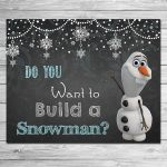 Frozen Do You Want to Build A Snowman Sign Chalkboard Olaf //
