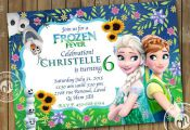 Frozen Fever Invitation Birthday Party, Frozen Birthday Party, Frozen Printable,...