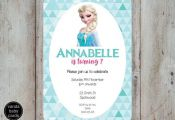 Frozen Invitation Elsa Frozen Birthday by VandaBabyCards on Etsy