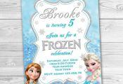 Frozen Invitation, Frozen Birthday Party. Frozen Printable.