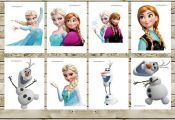 Frozen Printable INSTANT DOWNLOAD Birthday Party for Decorations Centerpiece, Ba...