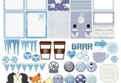 Frozen Printable Planner Kit 5 PDFs, Over 300 Icy Stickers EC or Happy Planner, ...