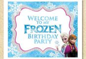 Frozen Printable WELCOME party sign, Instant Download, Frozen Birthday Party Inv...