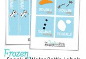 Frozen Printables {Snack and Water Bottle Labels--Perfect for a Frozen Party} On...