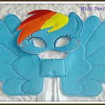 Handmade Mask and Large Wings Set – Rainbow Dash – My Little Pony  Dash, Han...