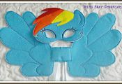 Handmade Mask and Large Wings Set – Rainbow Dash – My Little Pony  Dash, Han...