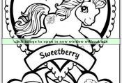 How cute is this My Little Pony Coloring Page? Repin and share the fun!  Colorin...