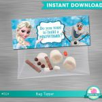 INSTANT DOWNLOAD Frozen bag topper build a snowman, Deconstructed Olaf Bag Toppe...