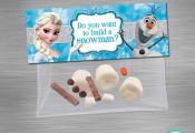 INSTANT DOWNLOAD Frozen bag topper build a snowman, Deconstructed Olaf Bag Toppe...