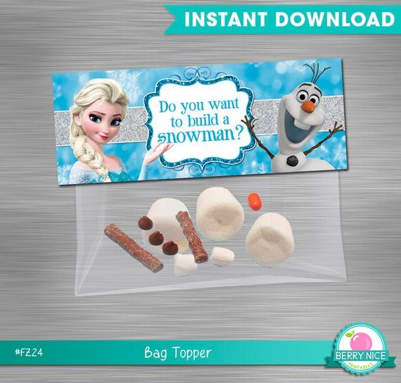 INSTANT-DOWNLOAD-Frozen-bag-topper-build-a-snowman-Deconstructed-Olaf-Bag-Toppe INSTANT DOWNLOAD Frozen bag topper build a snowman, Deconstructed Olaf Bag Toppe... Cartoon