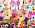 Kid table from a My Little Pony Birthday Party via Kara's Party Ideas | KarasP...