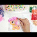 Manualidades *tubitos de colores*Como hacer figuras de Hama*Pinkie Pie*My Little...