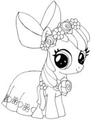 My-Little-Pony-Apple-Bloom-Coloring-page My Little Pony Apple Bloom Coloring page Cartoon