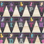My Little Pony Birthday Banner Chalkboard // by ApothecaryTables