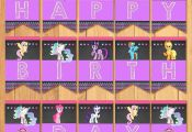 My Little Pony Birthday Banner Chalkboard by SometimesPie  Banner, Birthday, Cha...