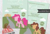 My Little Pony Birthday Party Invitation by RedHeadedInk on Etsy  Birthday, etsy...