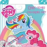 My Little Pony Carry Along Colouring Set Travel Activity Kids Party Bag  Activit...