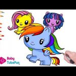 My Little Pony Coloring Book Page Cutie Mark Crew Mane 6 Ponies MLP Coloring bab...