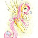 My Little Pony Fluttershy Art Print MLP Butterfly  by ForeverFairy