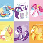 My Little Pony Friendship is Magic Postcard Set of 6 by tinrobo, $8.50