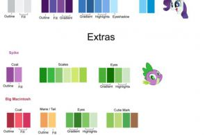 My Little Pony: Friendship is Magic color guide! by AtomicLance on deviantART