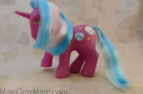 My Little Pony G1 Beachball beach ball sunshine pony change color unicorn hair #...
