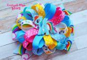 My Little Pony Hair Bow Rainbow Dash Hair Bow by TretyakOlgaBows