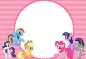 My Little Pony Invitation.jpg 2,100×1,500 pixels  Invitationjpg, pixels, Pony #...