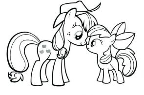 My Little Pony Mom and Baby Coloring Pictures #coloring