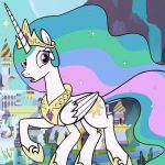 My Little Pony Princess Celestia digital coloring book page video Princess Celes...