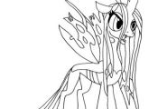 My Little Pony Queen Chrysalis coloring page from My Little Pony category. Selec...