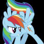 My Little Pony Rainbow Dash vinyl decal by alchemybynight on Etsy, $5.50