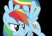 My Little Pony Rainbow Dash vinyl decal by alchemybynight on Etsy, $5.50