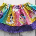 My Little Pony Skirt for baby girl - baby girl skirt, rainbow skirt, my little p...