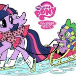 My Little Pony Twilight and Spike digital coloring book page video Twilight Spar...