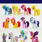 My Little Pony Unicorn Mini Figures cake toppers PVC Toys Rainbow Colour 412pcs