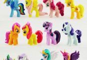 My Little Pony Unicorn Mini Figures cake toppers PVC Toys Rainbow Colour 412pcs