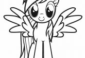 My Little Pony coloring and banners for birthday | My Little Pony with wings - F...
