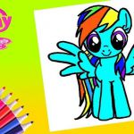My little pony Rainbow Dash Coloring Page  Coloring, Dash, page, Pony, Rainbow #...