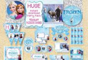 ON SALELimited TimeFrozen Printable Party Pack by MadPhotoge, $15.00