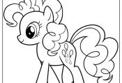 Pinkie Pie My Little Pony Cartoon Coloring Page   #cartoon #coloring #pages