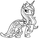 Princess Celestia in Love Frame My Little Pony Coloring Page
