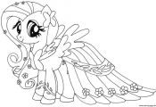 Print fluttershy my little pony coloring pages
