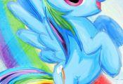 Rainbow Dash  My Little Pony Friendship is Magic Art Print