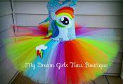Rainbow Dash My little pony Halloween dress Rainbow Dash tutu | Etsy