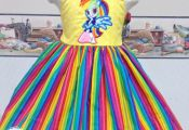 Rainbow My Little Pony – Equestria Inspired Twirl – Custom Dress – Bright ...