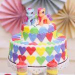 Rainbow Themed My Little Pony Party with Such Cute Ideas via Kara's Party Idea...