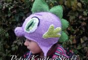 Spike  inspired hat,My Little Pony hat,My little Pony knitted hat , My Little Po...